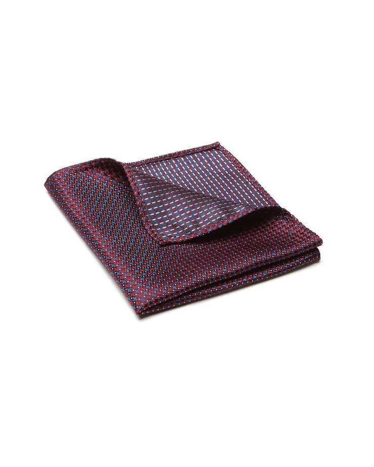peter-webbers-menswear - POCKET SQUARE, CROSS, MAROON - ACCESSORIES