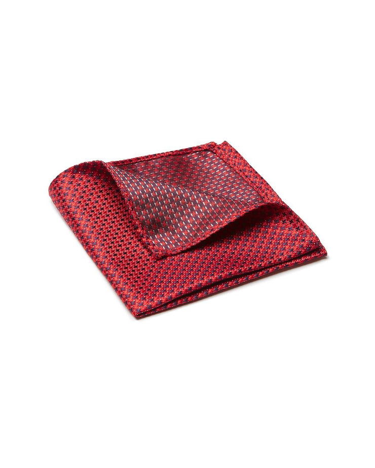peter-webbers-menswear - POCKET SQUARE, CROSS, RED - ACCESSORIES