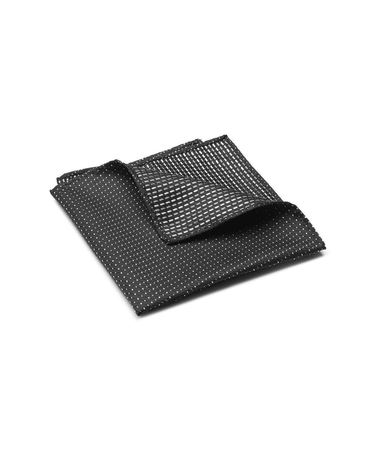 peter-webbers-menswear - POCKET SQUARE MICRO BLACK - ACCESSORIES
