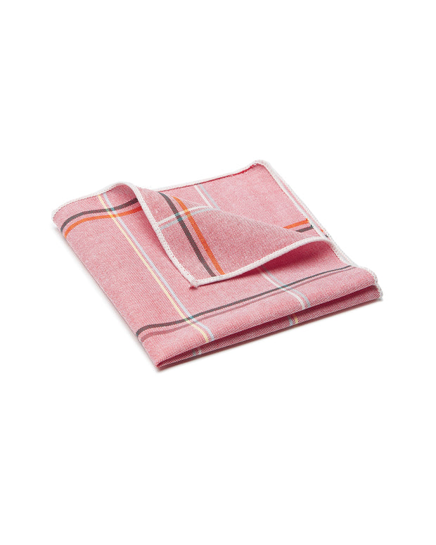 peter-webbers-menswear - POCKET SQUARE PLAID PINK - ACCESSORIES