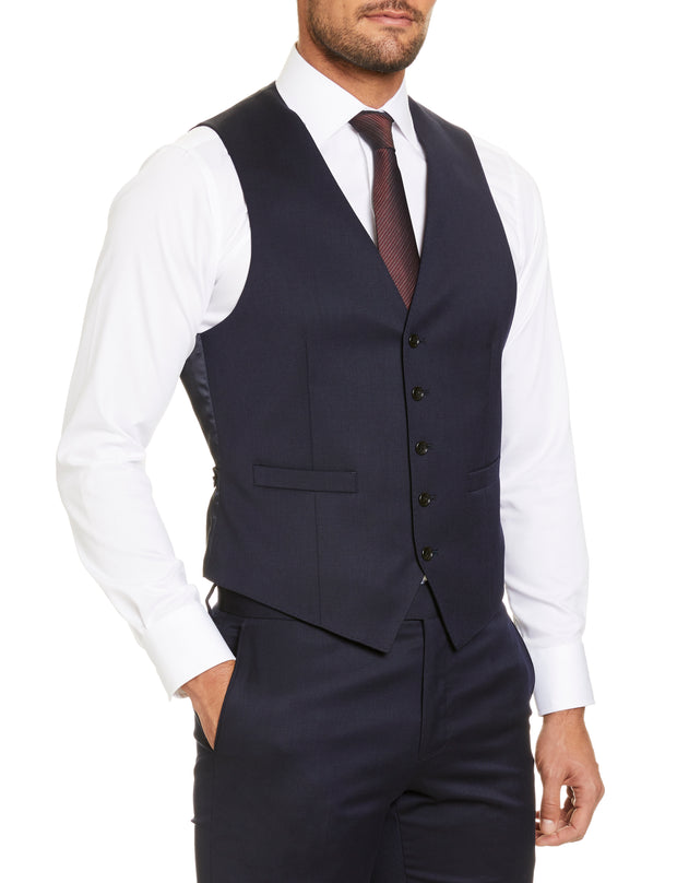 STUDIO ITALIA 'ICON STRETCH' VEST NAVY