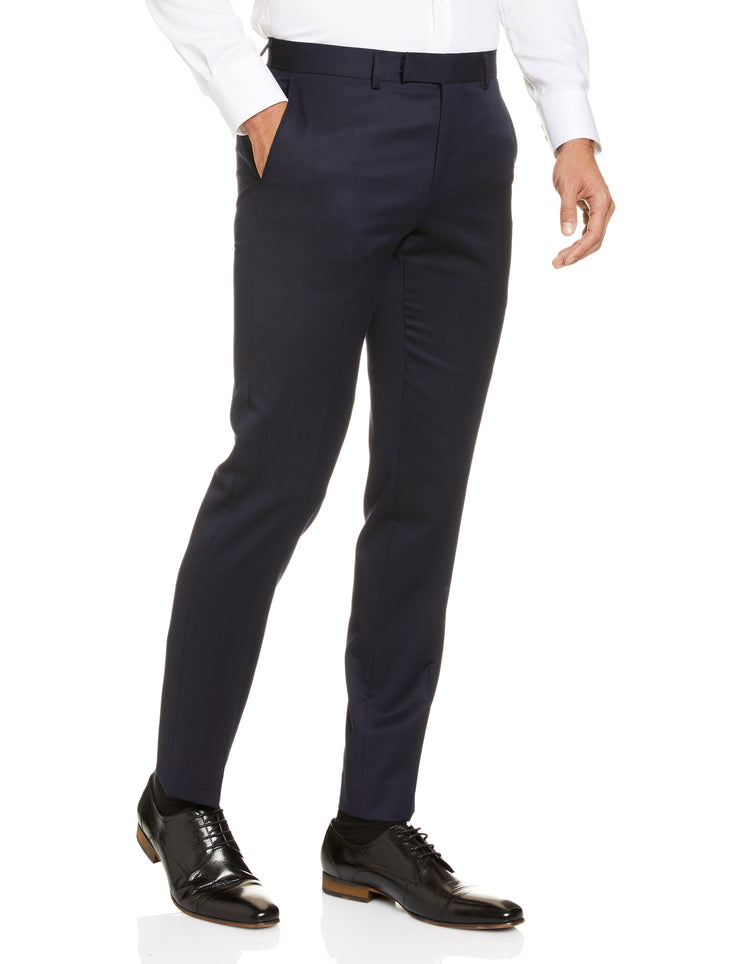 STUDIO ITALIA 'ICON STRETCH' TROUSERS NAVY