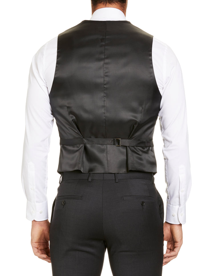 STUDIO ITALIA 'ICON STRETCH' VEST CHARCOAL