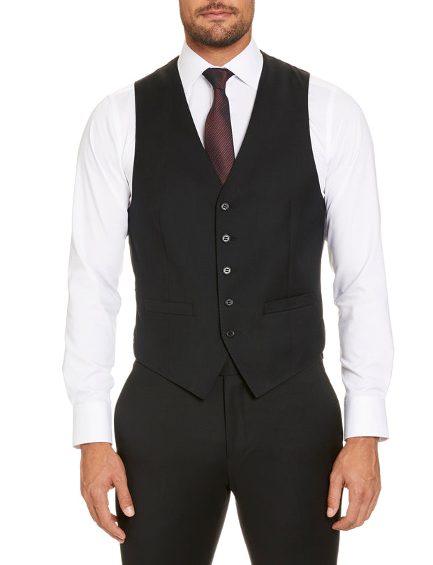 STUDIO ITALIA 'ICON STRETCH' VEST BLACK