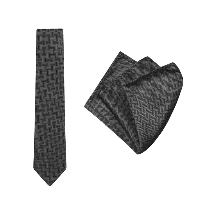 peter-webbers-menswear - TIE & POCKET SQUARE 'BASKET' - ACCESSORIES