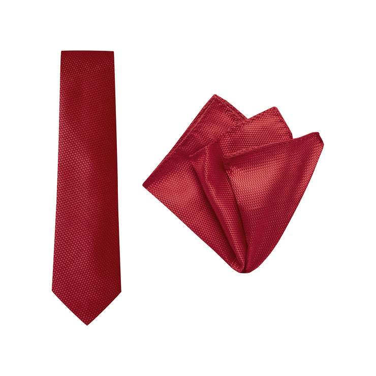 peter-webbers-menswear - TIE & POCKET SQUARE, CARBON - ACCESSORIES