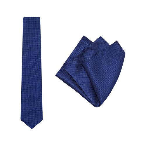 WEDDING TIE & SQUARE ROYAL BLUE