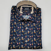 peter-webbers-menswear - JAZZ NAVY L/S SHIRT - CLOTHING