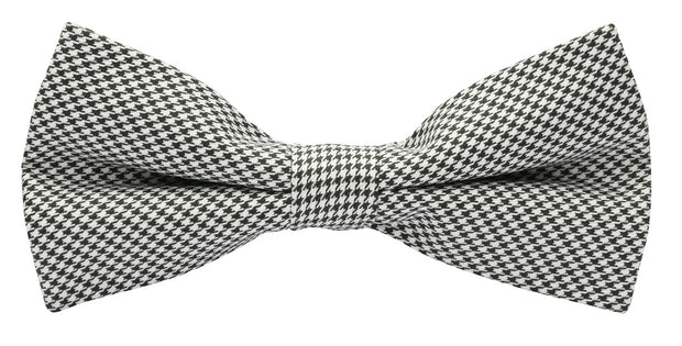 BOW TIE + POCKET SQUARE, VINTAGE, DOGTOOTH