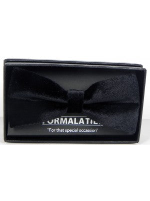 FORMALATIES VELVET BOW TIE BLACK