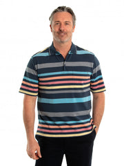 peter-webbers-menswear - ADLEY 60/40 TUCK STITCH POLO - CLOTHING