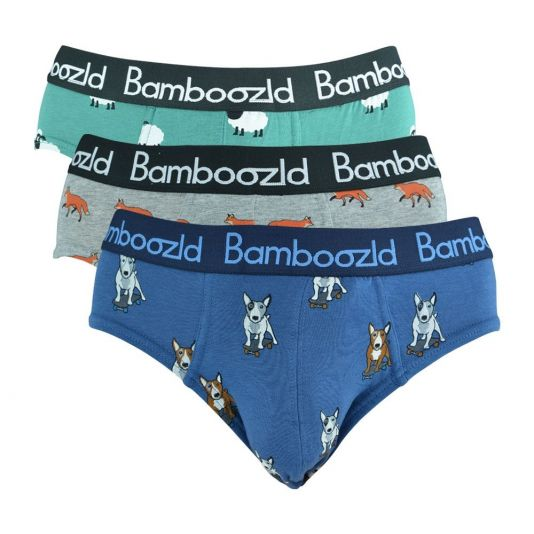 BAMBOO PACK OF 'WILD' BRIEFS