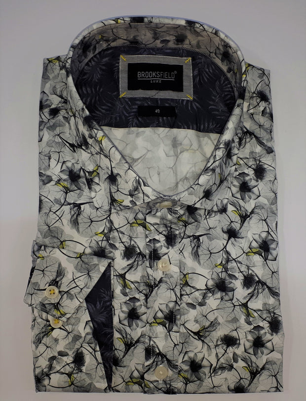 BROOKSFIELD LUXE FLORAL PRINT SHIRT