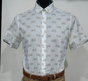 BROOKSFIELD CASUAL BICYCLE PRINT S/S SHIRT