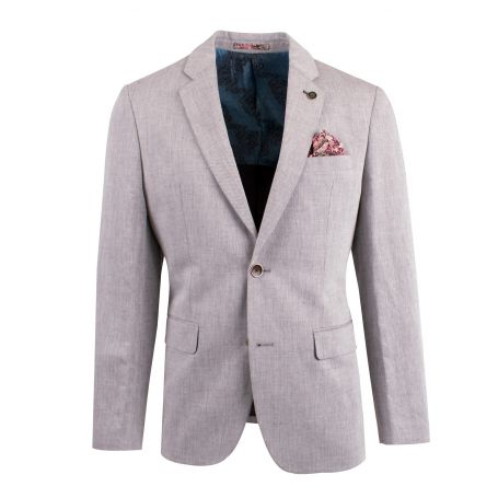 peter-webbers-menswear - LINEN BLEND TWILL BLAZER - CLOTHING