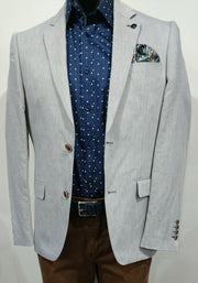 BROOKSFIELD LINEN BLEND TWILL BLAZER