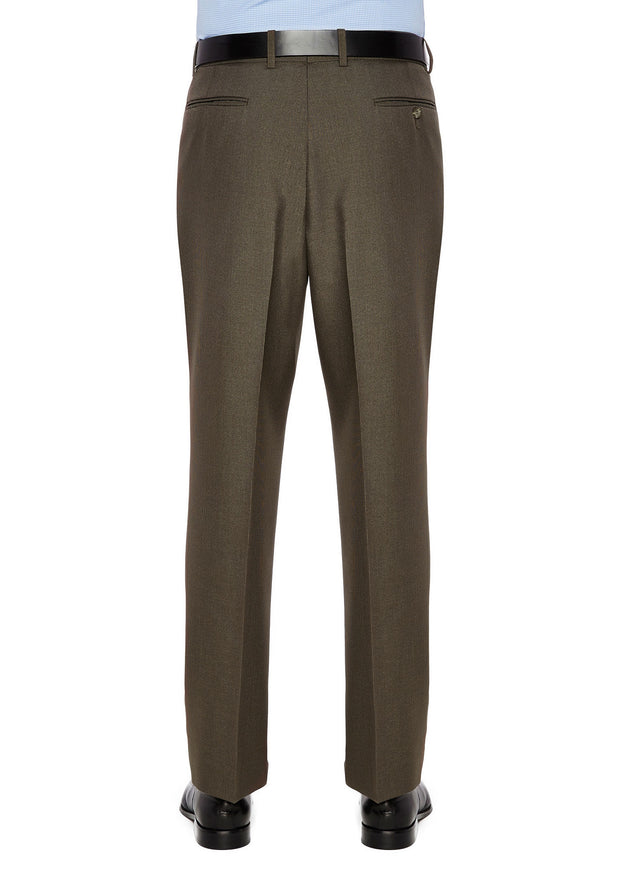 peter-webbers-menswear - DIPLOMAT AVOCA TROUSER BROWN - CLOTHING