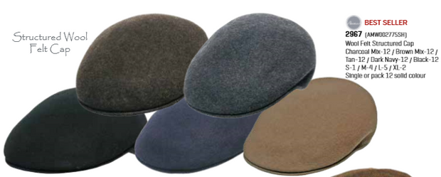 peter-webbers-menswear - SOFT FEEL WOOL FELT CAP - ACCESSORIES