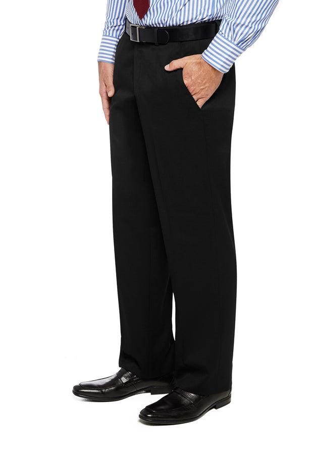 peter-webbers-menswear - FRASER PWLG TROUSER BLACK - CLOTHING
