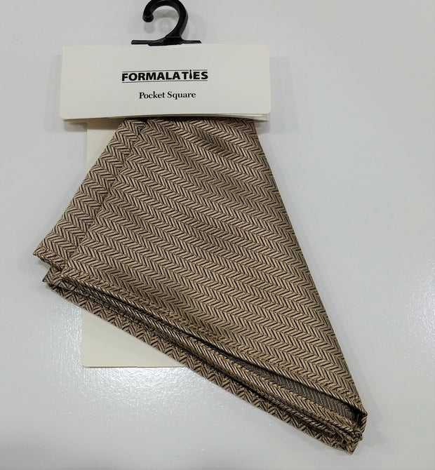 FORMALATIES POCKET SQUARE HERRINGBONE