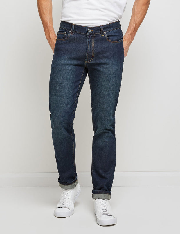 peter-webbers-menswear - INDIGO DUKE STRETCH JEAN - CLOTHING