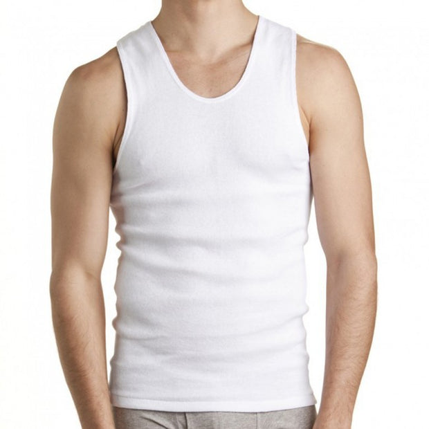 peter-webbers-menswear - BONDS WHITE CHESTY ATHLETIC SINGLET - ACCESSORIES