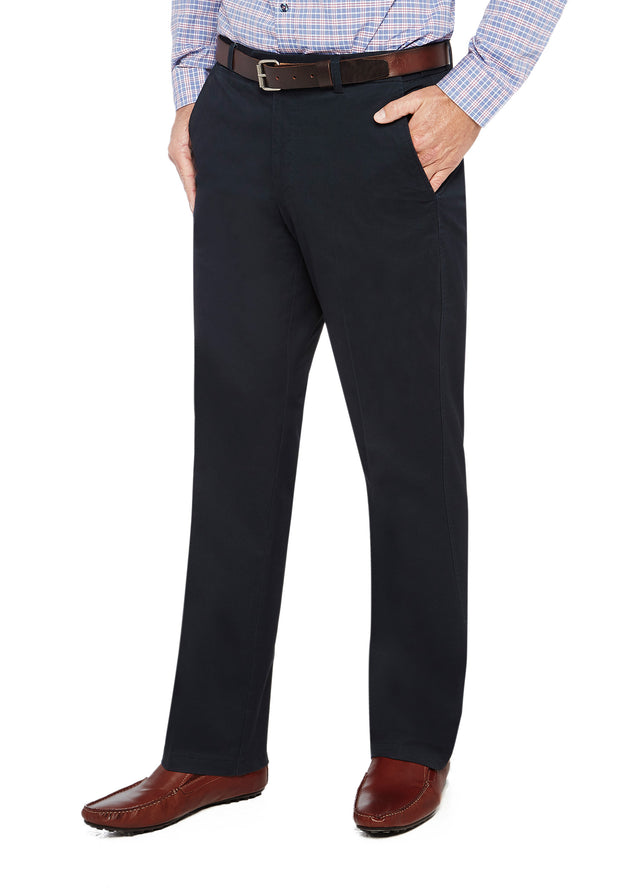 peter-webbers-menswear - MARINER HARBOUR TROUSER NAVY - CLOTHING