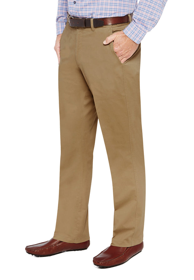 peter-webbers-menswear - MARINER HARBOUR TROUSER TAN - CLOTHING