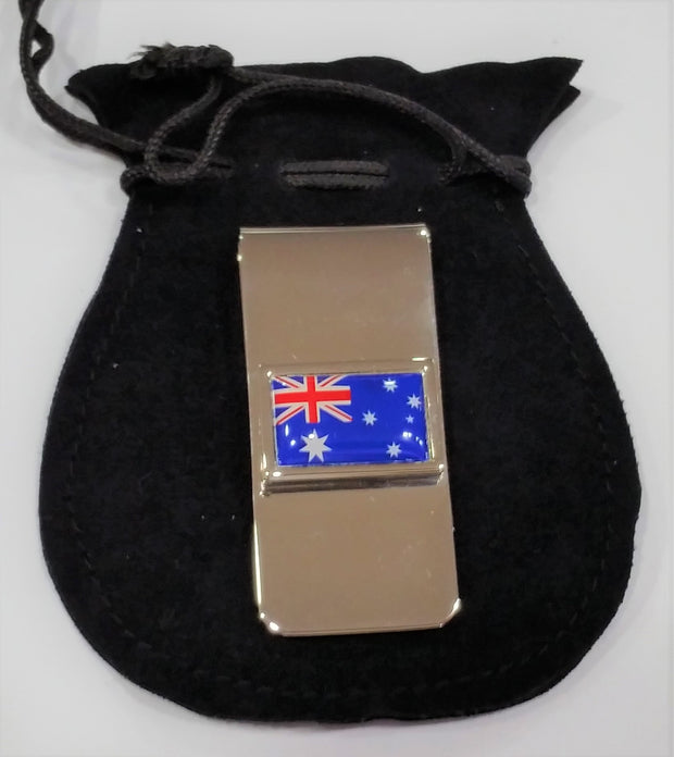 peter-webbers-menswear - MONEY CLIP WITH AUSTRALIAN FLAG - ACCESSORIES
