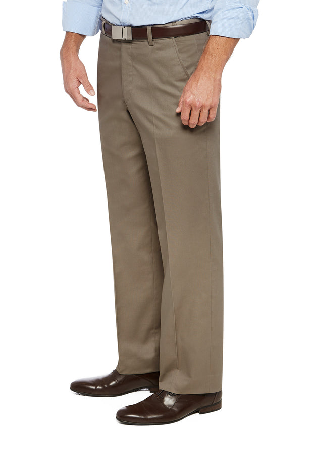 peter-webbers-menswear - PACIFIC FLEX TROUSER BEIGE - CLOTHING