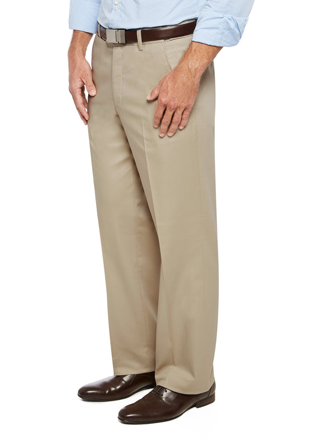 peter-webbers-menswear - PACIFIC FLEX TROUSER SAND - CLOTHING