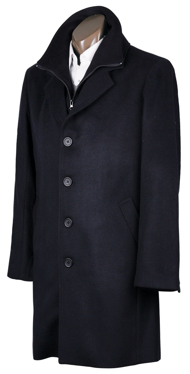 peter-webbers-menswear - PROFILE OVERCOAT BLACK - CLOTHING