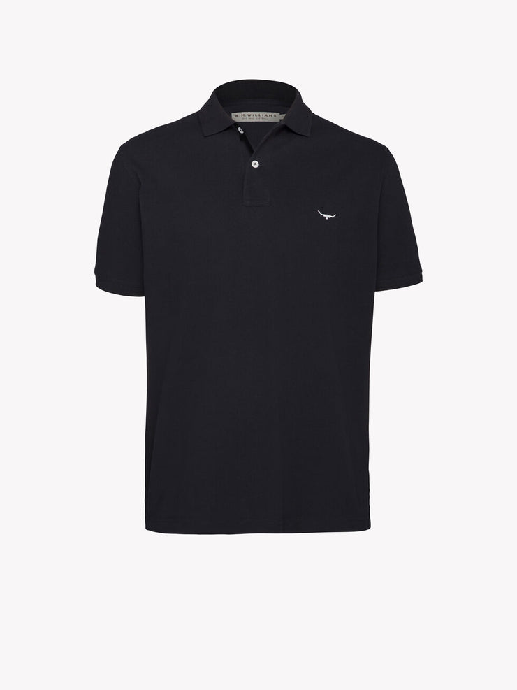 peter-webbers-menswear - ROD POLO BLACK - CLOTHING