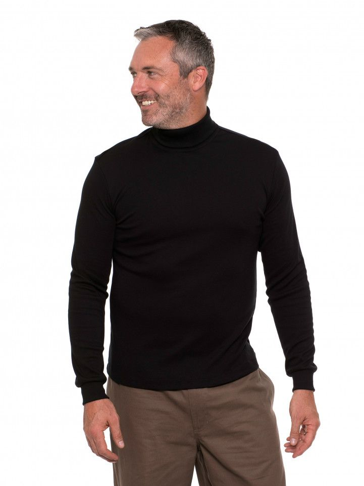 peter-webbers-menswear - BREAKAWAY WINTERLOCK ROLL NECK SKIVVY - CLOTHING