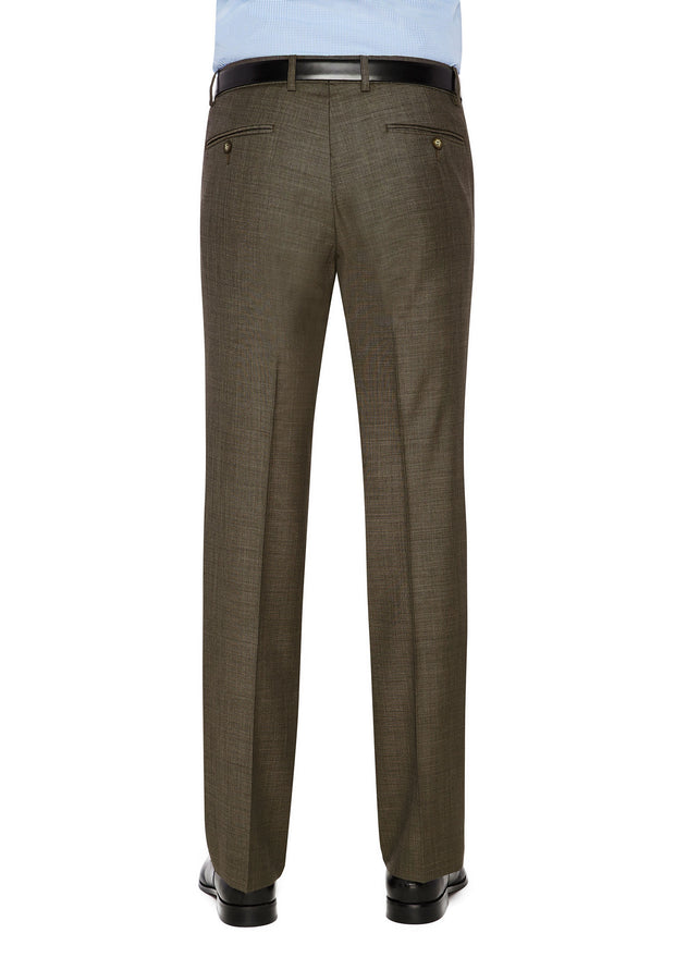 peter-webbers-menswear - SHIMA 1007 TROUSER BROWN - CLOTHING