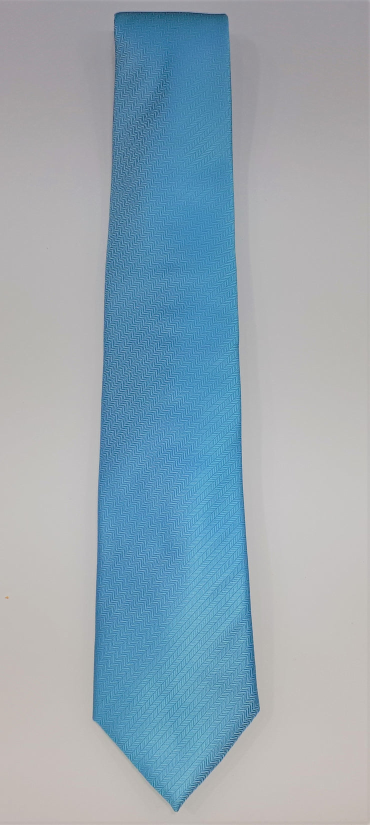 FORMALATIES HERRINGBONE TIE 'BLUE ICE'