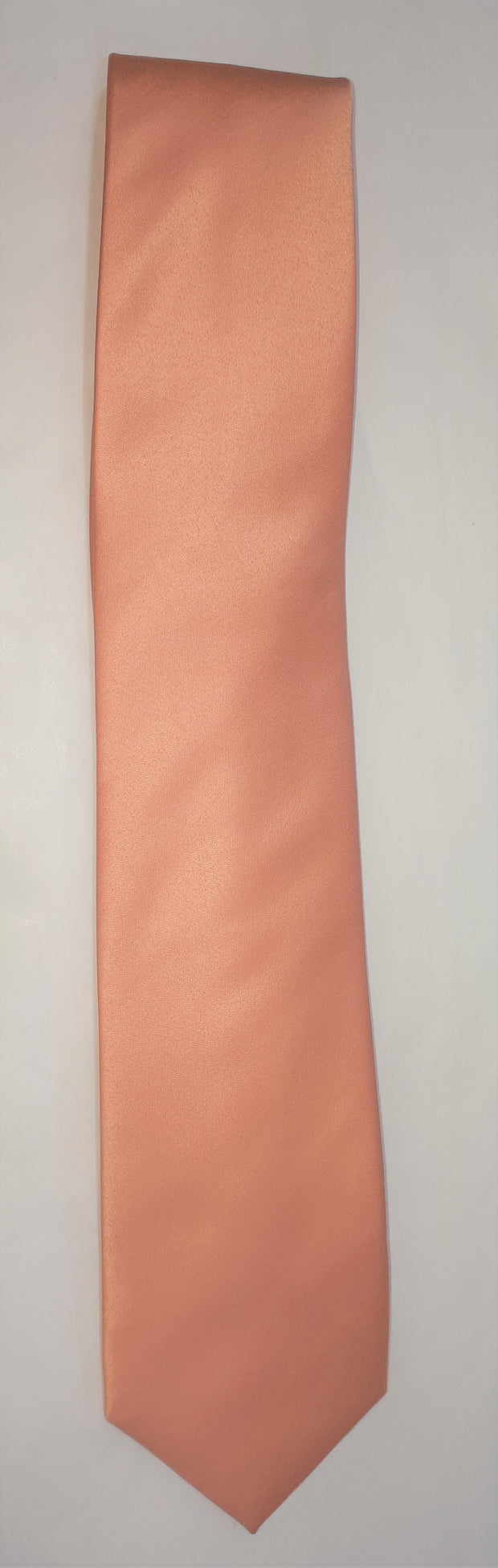 FORMAL SATIN TIE PEACH