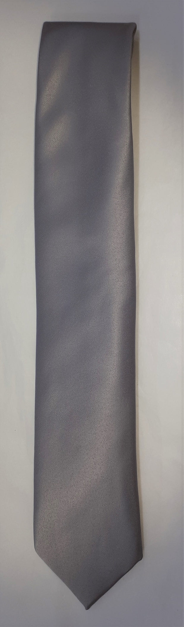 FORMAL SATIN TIE SILVER