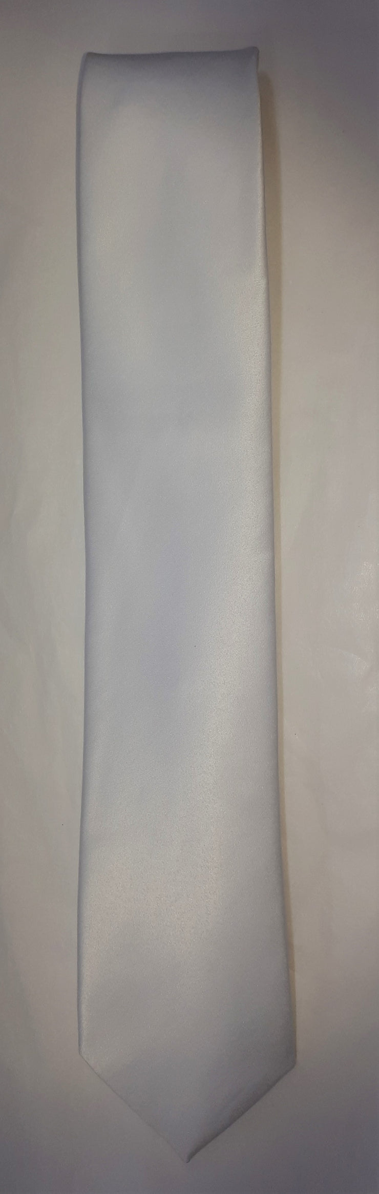 FORMAL SATIN TIE WHITE