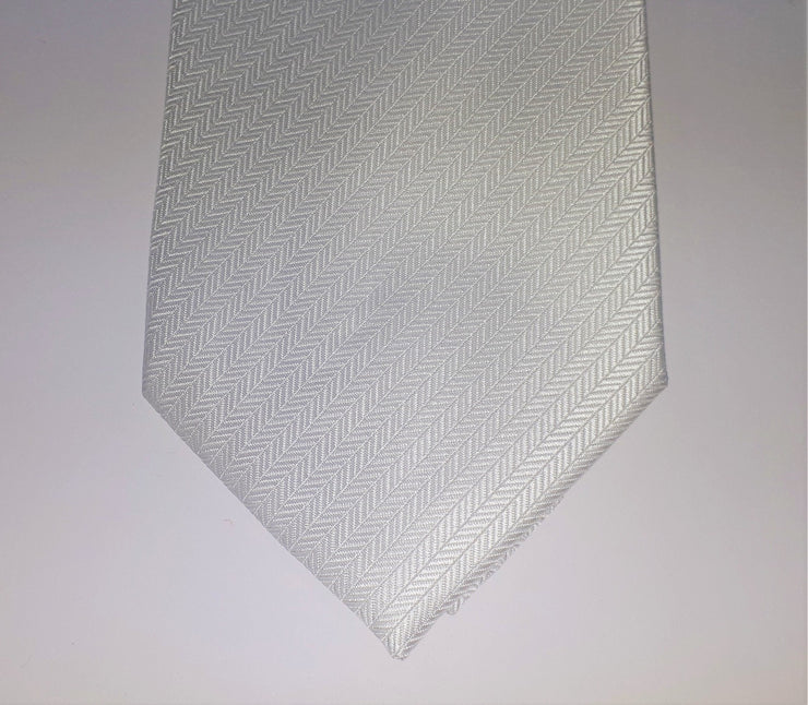 FORMALATIES HERRINGBONE TIE 'WHITE'