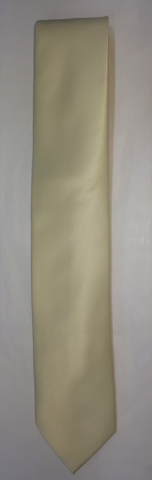 FORMAL SATIN TIE IVORY