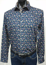 THOMSON & RICHARDS JAZZ NAVY L/S SHIRT
