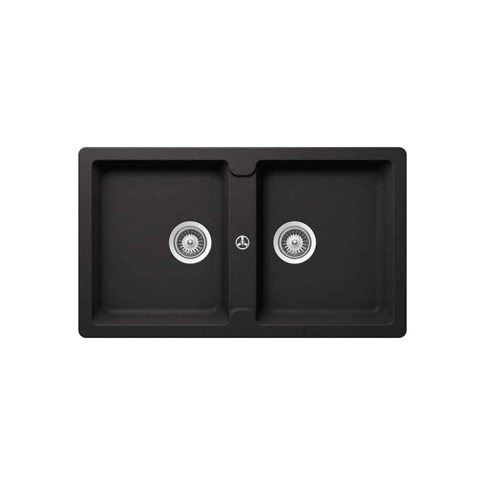 Häfele Double Bowl Granite Sink ANTONIUS HS-GD8650 (Black)