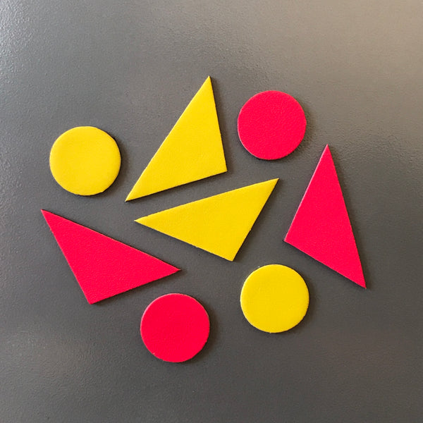 Let's Stick Together Magnets | Pink Yellow Triangles-SMENA
