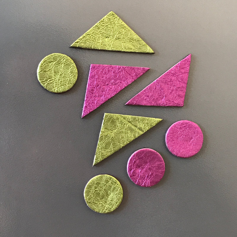 Let's Stick Together Magnets | Magenta Kermit Triangles-SMENA