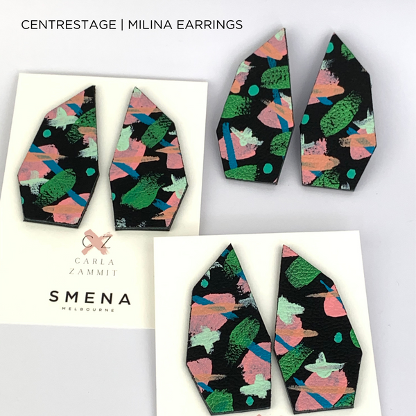 SMENA X CZxo | MILINA EARRINGS | 6 PAINTING DESIGNS