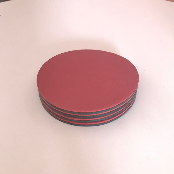 Let's Drink | Circular Coaster Set | Dusty Pink