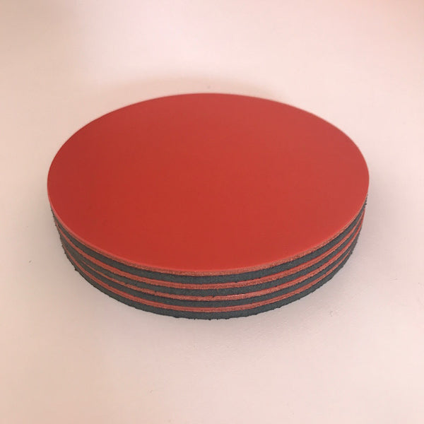 Let's Drink | Circular Coaster Set | Coral