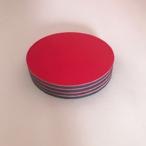 Let's Drink | Circular Coaster Set | Hot Pink