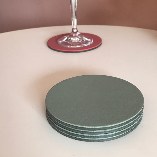 Let's Drink | Circular Coaster Set | Sage-SMENA
